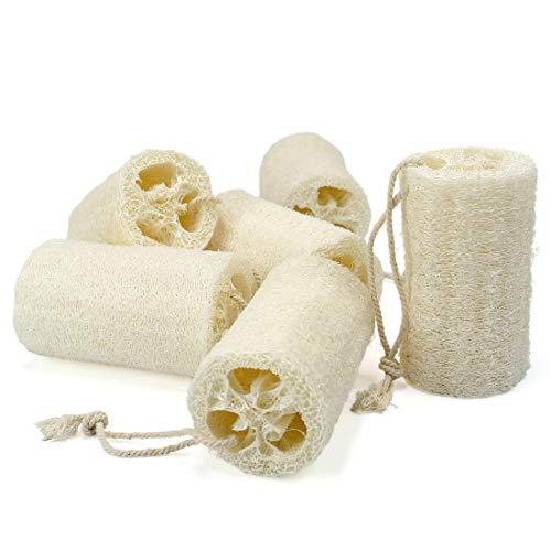 Pack of 6 Natural Loofah Luffa Loofa Exfoliating Bath Body Shower Sponge Scrubber