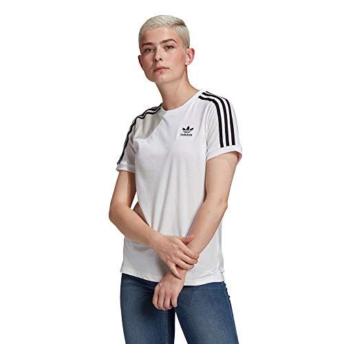adidas GN2913 3 Stripes tee T-Shirt Womens White 40