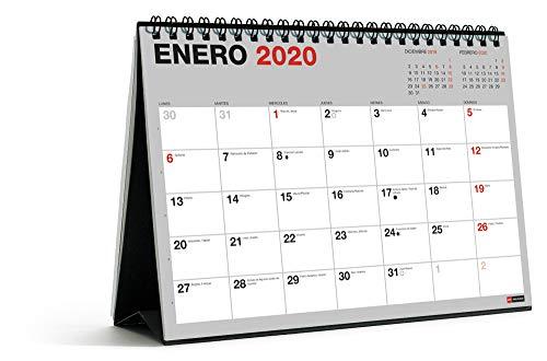 Miquelrius 28049 - Calendario de Sobremesa A5 para escribir Gris 2020 Básico Castellano