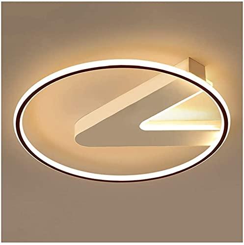 Luz de techo moderna creativa, led de acrílico de aluminio regulable, sala de estar Dormitorio Dormitorio Cocina Comedor Lámparas de techo Flush Mount (Color : Three-color Dimming-55 * 55cm/78w)