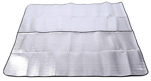 Sanyouletoo 3-4 Outdoor-Zelt Aluminium-Pad Große Dicke Feuchtigkeitsfeste Pad Ausflug Gras Picknick Kissen Strand Matte Picknickdecke Outdoor Klein Stranddecke Picnic Rug Picnic Mat Stranddecke Leicht