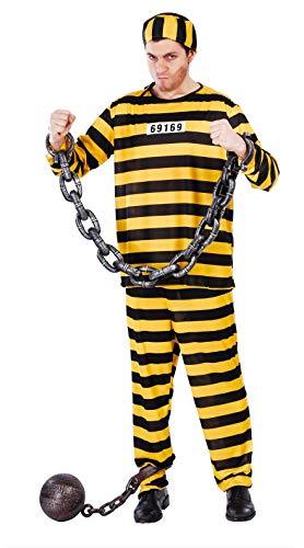FIESTAS GUIRCA Disfraz Hombre encarcelado Prisionero amarllo Talla l
