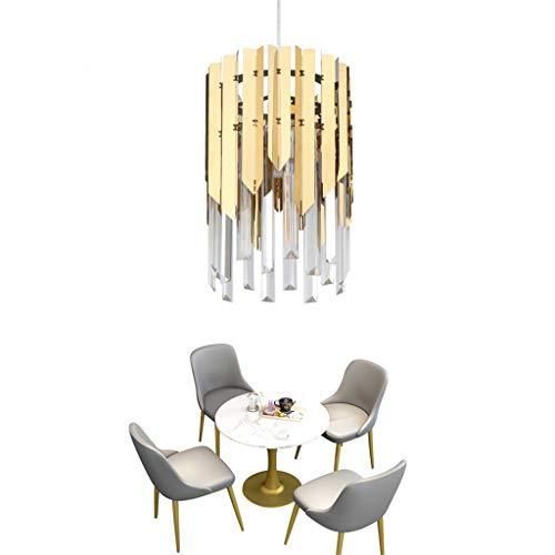 LED-Kristalldeckenleuchte Kleine runde Goldleuchter-Beleuchtung Moderne Luxus-Lampe für Esszimmer Foyer Chrom Pendelleuchten