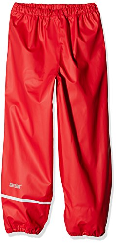CareTec Kinder Regenhose (verschiedene Farben) , Rot (Red 402), 134