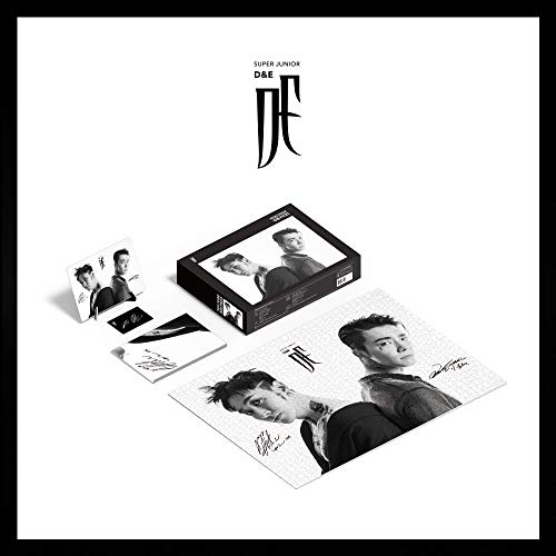 SM Entertainment Super Junior D&E - Puzzle de 1000 Piezas + Marco de Papel + póster + Tarjeta Lucky + Juego de Tarjetas fotográficas adicionales