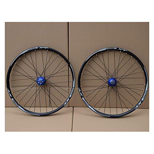Radfahren Räder for 26 27,5 29 Zoll Mountainbike-Laufradsatz Double Layer Alufelge Abgedichtetes Lager 7-11 Geschwindigkeit Cassette Hub Scheibenbremse QR (Color : C, Size : 26in)