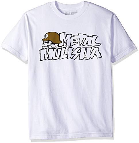 Metal Mulisha Herren IKON 2 T-Shirt, weiß, Groß