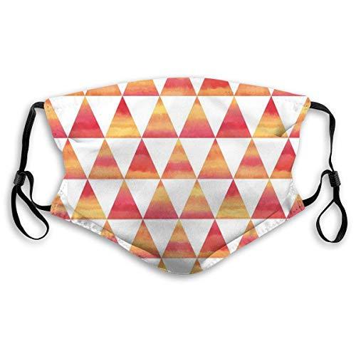 Winddichte Maske, Dreieck Geometrische Formen In Aquarell Stil Pinsel Effekte Kunst Pictureprinted Gesichtsdekorationen Für Erwachsene Kind