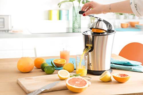Senya Presse Agrumes électrique Vitamin Ready, en Acier Inoxydable, Bras Levier, 0,8L, 160W, SYBF-CJ002