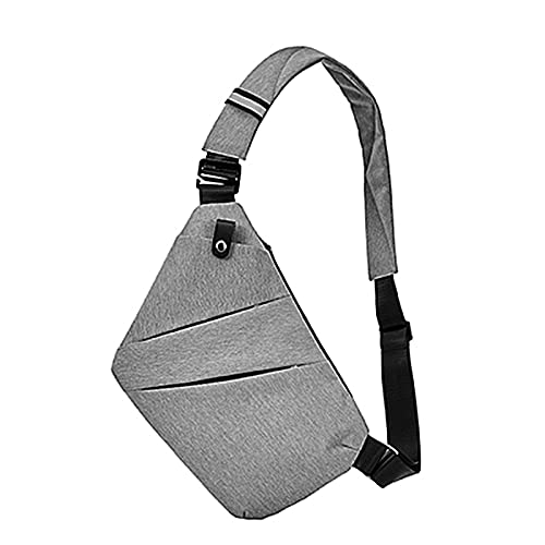 YQDHHD Anti-Theft Waterproof Shoulder Backpack Sling Chest Crossbody Bag Cover Pack Rucksack for Bicycle Sport Hiking Camping Outdoor Gray