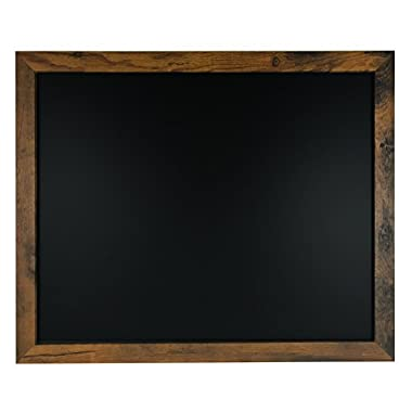 Rustic Wood Premium Surface Magnetic Chalk Board- 18 x22  Perfect for Chalk Markers and Home Decor