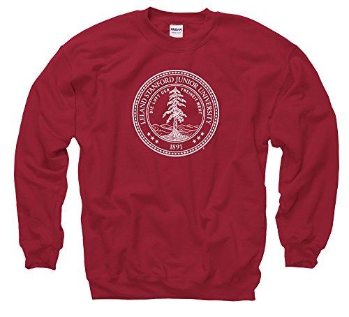 Shop College Wear Stanford University Seal Men's Crewneck Sweatshirt-Cardinal