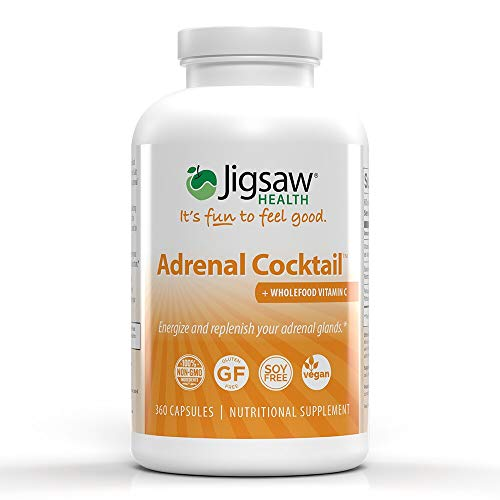 Adrenal Cocktail + Whole Food Vitamin C - 360 Capsules - Jigsaw Health