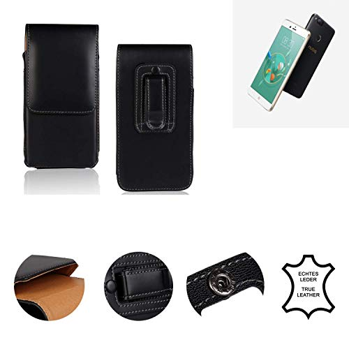 K-S-Trade® Holster Gürtel Tasche Für Nubia Z17 Mini Handy Hülle Leder Schwarz, 1x