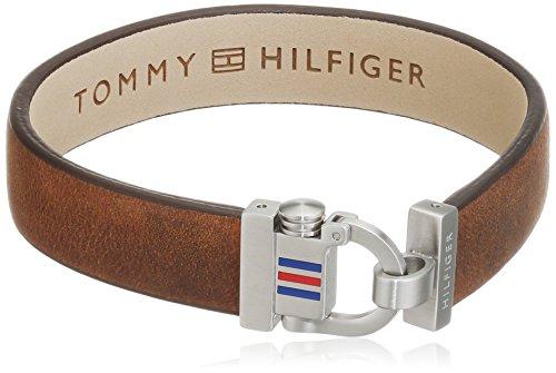Tommy Hilfiger Herren-Armband Edelstahl Leder 22 cm-2700769