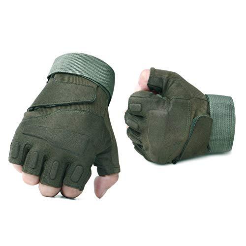 Liaiqing Guanti Ciclismo Moto/Arrampicata Protezione antiusura Guanti/Adatto for Lo Sport, Fitness, Ciclismo, Yoga, all\'aperto, Pesca e Sport in Generale (Color : Olive Green, Gloves Size : XL)
