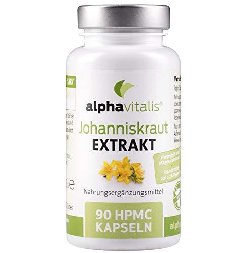 Johanniskraut Extrakt 4000 mit Hypericin - hochdosiert, vegan und ohne Magnesiumstearat - 90 Kapseln - St. John's Wort Extract aus Hypericum perforatum L.