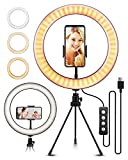 10.2' Selfie Ring Light with Tripod Stand, ELEGIANT Ring Light with Cell Phone Holder 3 Light Modes & 11 Brightness Level and 160 Bulbs for YouTube Video Live Stream Makeup Photography