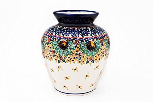 Original Bunzlauer Keramik Vase/Blumenvase, Höhe 17,0cm im künstlerischen Dekor ART-297