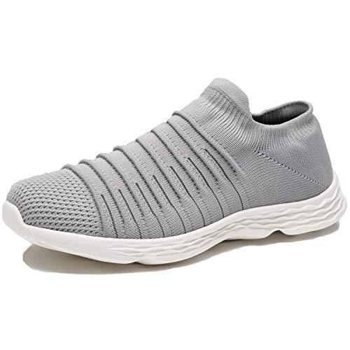 Zapatillas Casuales para Hombre Calzado Deportivo Bajas de Moda Sandalias de Verano Ligeras y Transpirables Gris 43