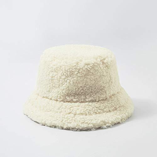 Sombrero de Mujer Piel sintética sólida Gorra Femenina cálida Piel sintética Sombrero de Cubo de Invierno para Mujer Sombrero de protección Solar al Aire Libre Sombrero Panamá Lady Cap - Escribir