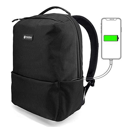 tomtoc Light Laptop Backpack School Bag 15.6 inch Backpack Daypack 22L, Anti Theft Work Commuter Travel Backpack for Men Women, USB Charging Port