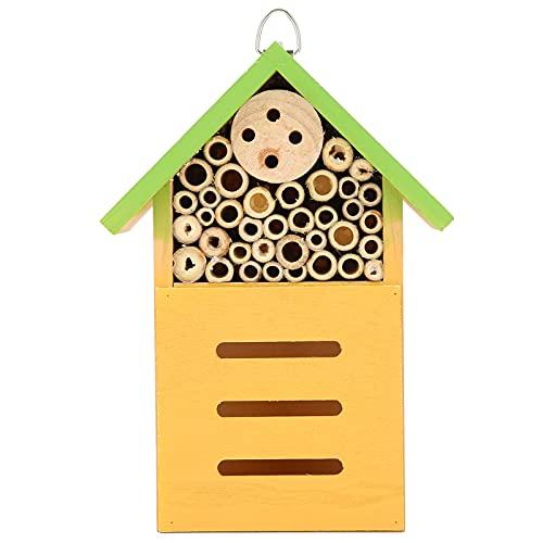SALALIS Bee Hotel, Durable Bee House Maravilloso Regalo Decoración Exquisita Seguro para observar Animales para ciertos