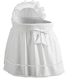 Babydoll Bedding Precious Bassinet Liner/Skirt & Hood Color: White - Size: 17