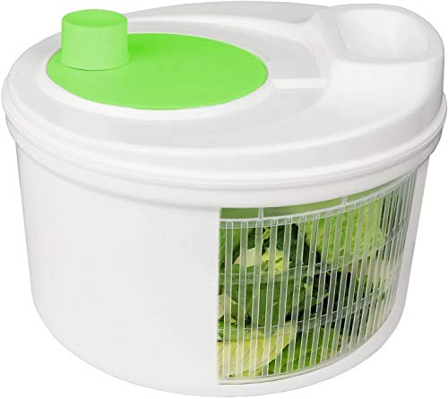 Greenco Easy Spin Manual Salad Spinner, 4 -Quart