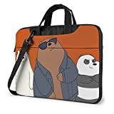 Anime We Bare Bears Laptop Bag Backpack Sleeve Case Cover for Women Men Portable Briefcase Tote Cases Double-Layer Large Capacity 13 Inch