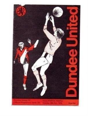 Dundee United v Partick Thistle 28/10/1978 old football programme