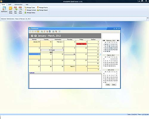 SchedulePro Project Management and Scheduling Software; Calendar Software, Win PCs