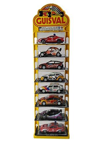 Guisval 16150 Set de 8 Piezas, Coches Rally Escala 1:58