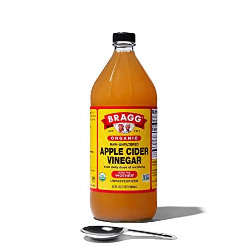 Bragg Organic Apple Cider vinegar 907,2gram–con la madre–USDA Certified Organic–Raw–all Natural, W/cucchiaio dosatore