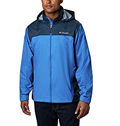 in budget affordable Columbia Glennaker Lake Men's Zip Front Jacket, Blue Jay / Columbia Navy, Medium