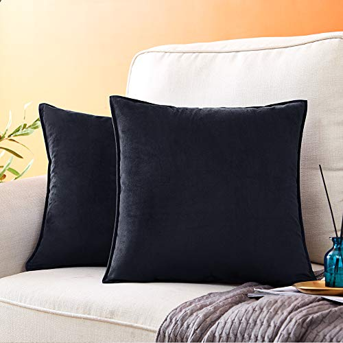 Check Out This Andaot Pack of 2 Velvet Decorative Throw Pillow Covers for Couch, Soft Soild Square C...