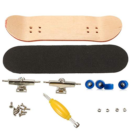 Fingerboard Finger Skateboards, Mini diapasón, Patineta de Dedos Profesional Maple Wood DIY Assembly Skate Boarding Toy, Juegos de Deportes Kids