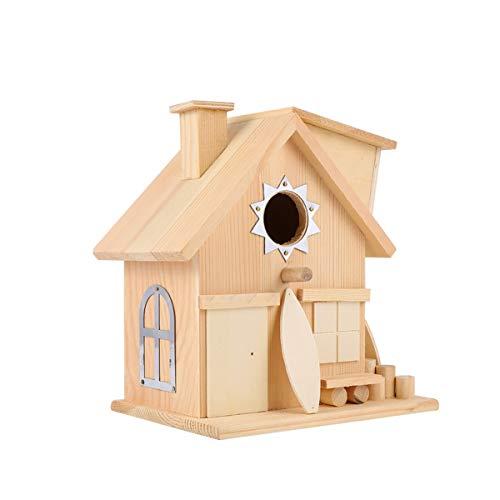 Cabilock en Bois Suspendus Maison D'oiseau Décoratif Oiseau Mangeoire pour Animaux Boîte D'élevage Éclosion Cas pour La Maison Intérieure Décoration Extérieure