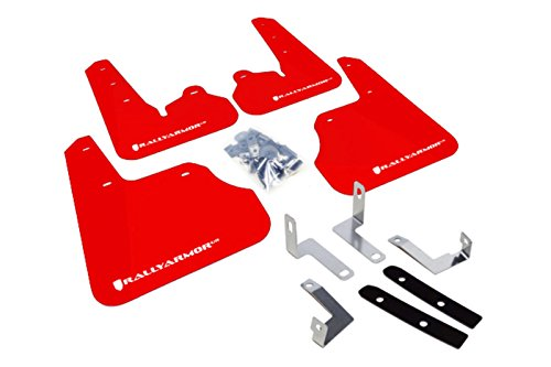 Rally Armor MF22-UR-RD/WH Red, White Mud Flap with Logo (12+ Subaru Impreza 5dr Hatch/4dr Sedan UR), 1 Pack