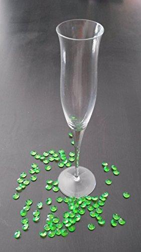 300 vert Pierres de décoration diamants pour décoration table mariage 12 mm gouttes de rosée de la Saxe Livraison