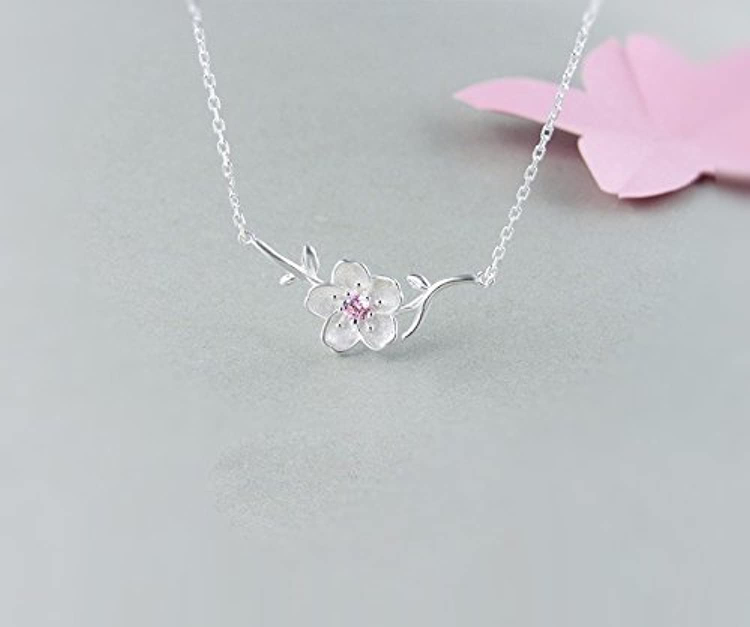 WFYJY Sterling Silver necklace pendant clavicle chain