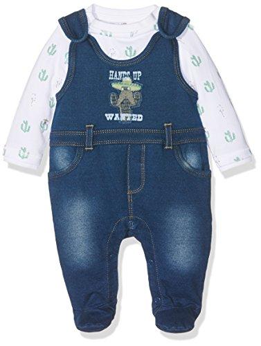 Kanz Baby-Jungen T-Shirt 1/1 Arm Strampler, Blau (Blue Denim 0013), 50