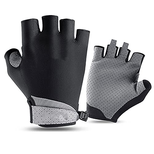 YFMYY Half Finger Cycling Gloves|Golf Sports Summer Sunscreen Fishing Breathable Cold Feeling Ice Silk Gloves|Outdoor Travel Fitness Mountaineering Driving Fishing Gloves