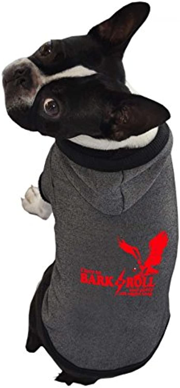 Ruff Ruff and Meow Medium Dog Hoodie, Bark n Roll, Black