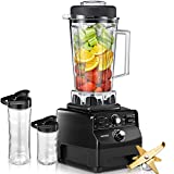 AICOOK Blender for Protein Shakes and Smoothie with Cookbook, 1450W Professional Blender for Crushing Ice,...