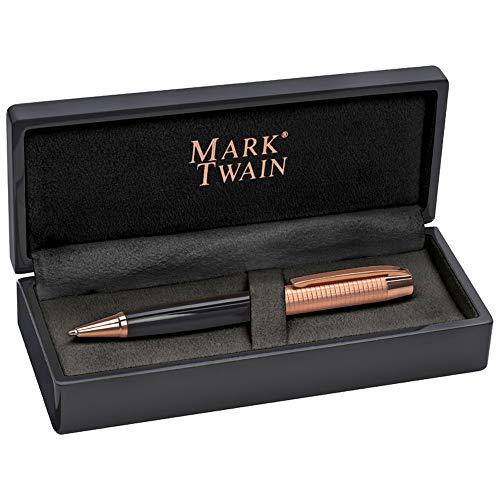 Mark Twain Drehkugelschreiber im Kupfer-Design mit ansprechendem Klavierlack-Etui von notrash2003