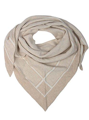 Cashmere Dreams Dreieckstuch mit Kaschmir - Hochwertiger Schal mit Labyrinth für Damen Jungen und Mädchen - XXL Hals-Tuch und Damenschal - Strick-Waren für Sommer und Winter