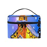 Bolsa de maquillaje Iglesia Nochebuena Bolsa de cosméticos Bolsa de aseo grande portátil para mujeres/niñas Viajes