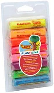 Plastilina Modelling Clay Blister 8 Bars 15G Assorted Neon Colours