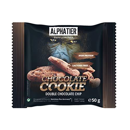 Vegan Protein Cookie Schokolade 50g einzeln - Veganer Proteinkeks ohne Süßstoff - Double Chocolate Chip Flavour Cookie mit 29,4% Eiweiß - Eiweißkeks Geschmack: Schoko